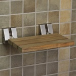 Teak shower seat adds function & form to showers!