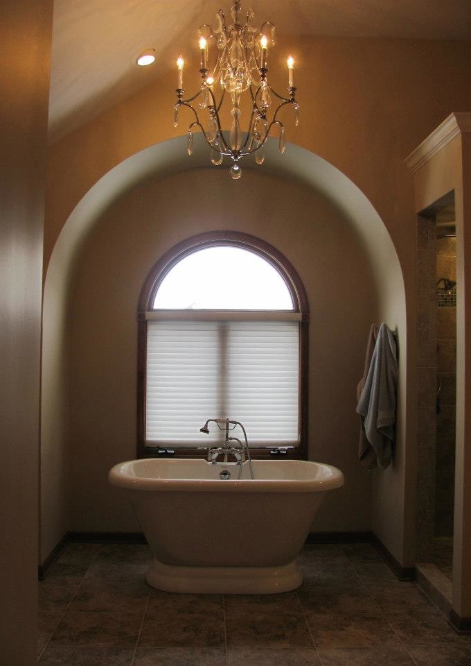 The soaking tub sets tone for luxury!