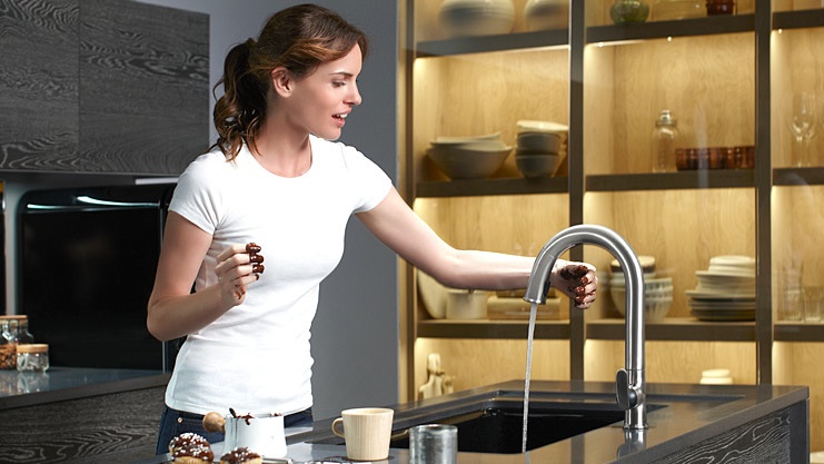 Kohler's sensate faucet makes clean up a breeze!