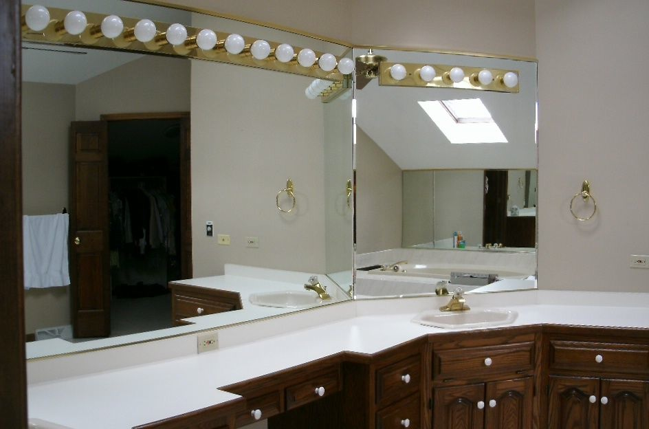 Vanity area before Master Bath Remodel