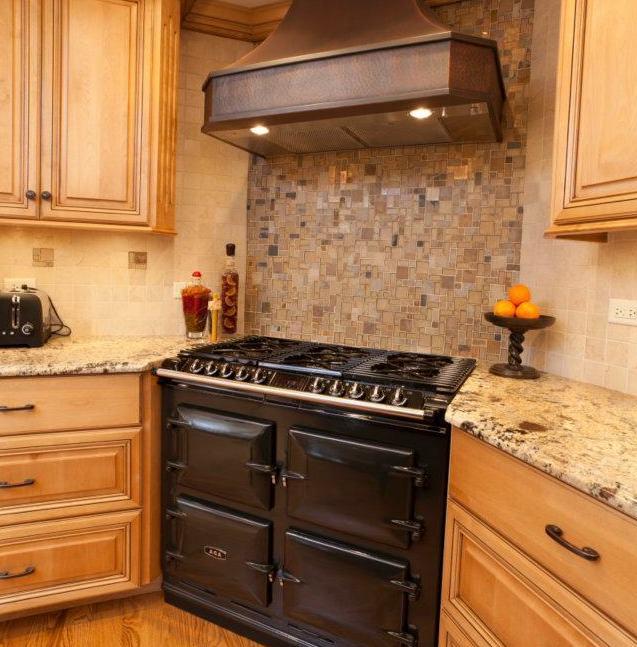 kitchen remodel - corner stove and oven