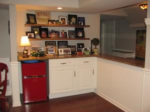 Dry bar area in Hodgeman kitchen