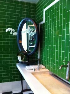 Mirror in bath