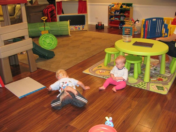 Kids play area in basement