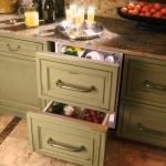 Hidden fridge drawer