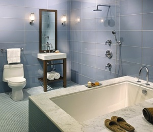 Back painted glass tile keeps your space clean & crisp!