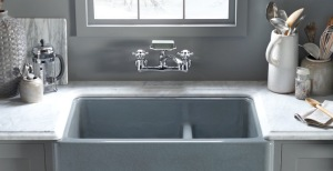 Kohler's new Whitehaven sink fits perfectly in any style kitchen