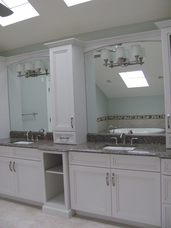 Separate vanity areas for Ed & Nicole -plenty of elbow room!