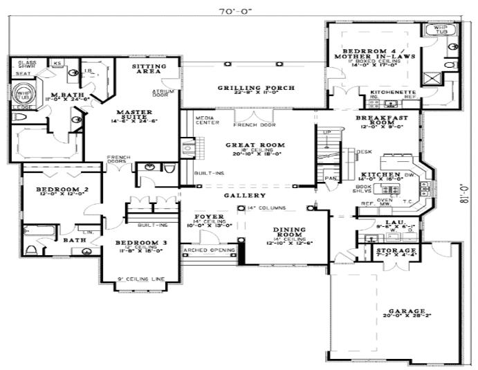 home remodeling ideas - Floor plan for multigenerational room addition