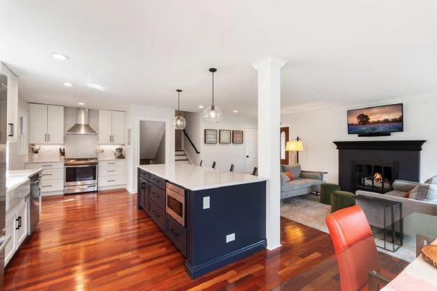 kitchen remodel with open floor plan