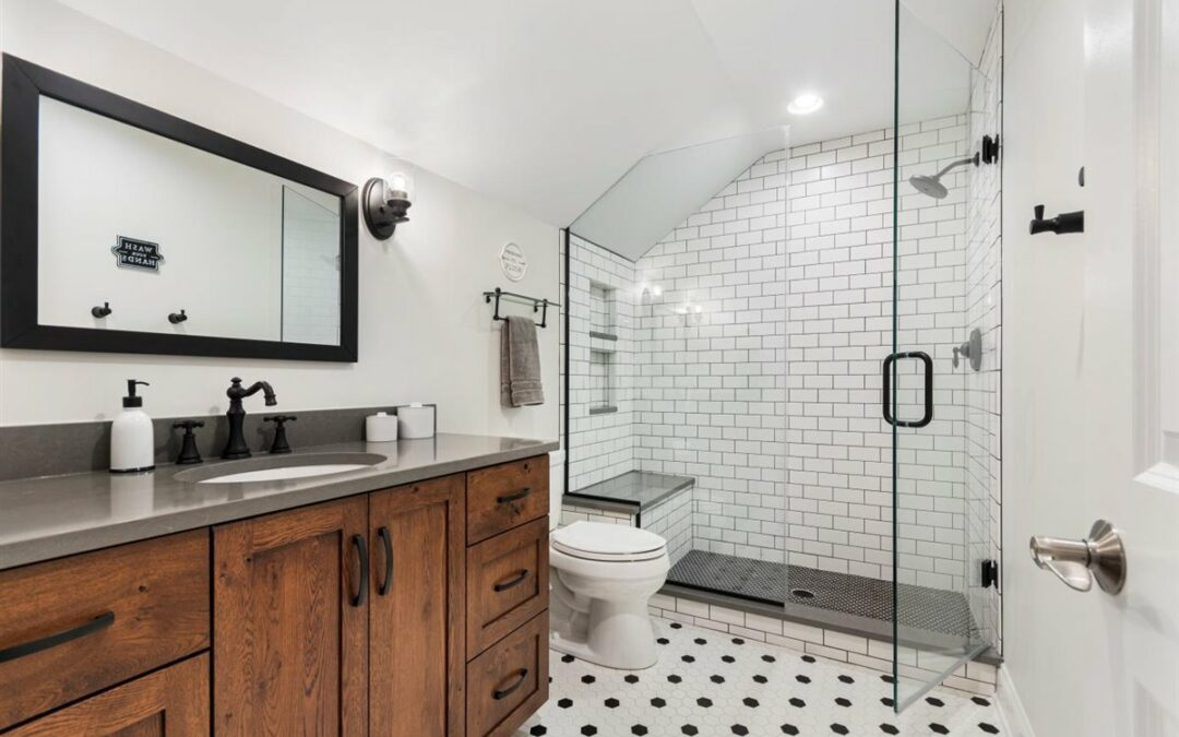 Bathroom Remodel Before & After Boys Bath